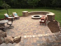 small back yard patios | patio pavers – residential patio pavers seatwallcolumns [800x600 ...