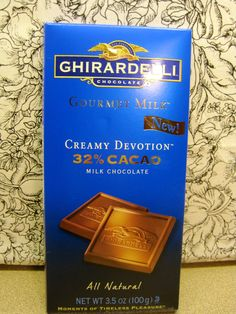 Hugee Ghirardelli Gourmet Milk Chocolate Bar from the Love Vox Box