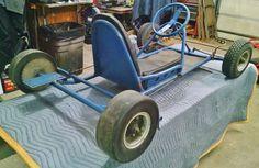 Vintage Fox Go Boy GO-KART Rolling Racing Chassis  (frame, go-cart, kart) 1960? #Fox