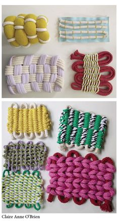 -combo of knitting and weaving -chunky Weaving Textiles, Textile Fabrics, Textile Patterns, Textile Design, Fabric Manipulation Techniques, Textiles Techniques, Weaving Techniques, Textile Texture, Textile Fiber Art