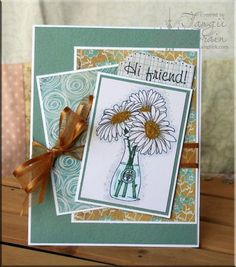 The Inking Spot of Crain Creations by Tangii Crain.  Lazy Daisy set by Just Inklined. #cards, #copics, #stamping