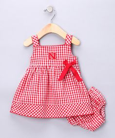 How cute for a little girl too. ;) Take a look at this Red Nebraska Madison Dress - Infant & Toddler by Garb on #zulily today!
