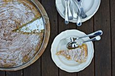 If you are not Greek and you have no idea what Bougatsa is, you can read a description here. For this post, I write 'Bougatsa' with inverted commas because this is not ACTUALLY 'Bougatsa' but my fa. Greek Desserts, Desserts To Make, Greek Recipes, Bougatsa Recipe, Cake Recipes, Dessert Recipes, Cinnamon Cake, Phyllo Dough, No Bake Pies