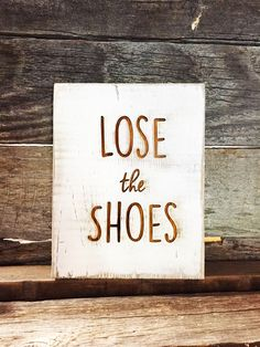 "Handmade in the USA, these barnwood signs are perfect to let your guests know that this is a ""no shoe"" household. Great for gifting too!"