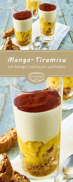 Mango-Tiramisu: Ein cremiges Dessert mit Mango, Cantuccini und Kakao