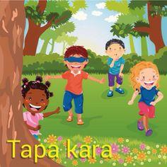 Hide-and-seek   E muchanan ta hunga tapa kara - The kids are playing hide-and-seek! Visit: henkyspapiamento.com #papiamentu #papiamento #papiaments #aruba #bonaire #hide-and-seek #verstoppertje #escondidas #esconder