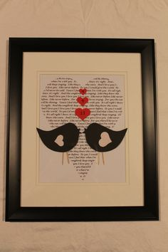 Great Valentine's Day gift...Personalized Love Birds Frame