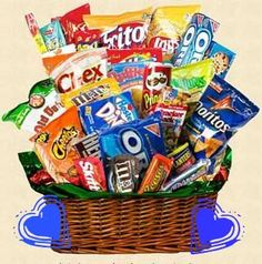 Movie Night Basket Gift Do You Have A Sweetheart With Sweet Tooth Send Him Junk Food