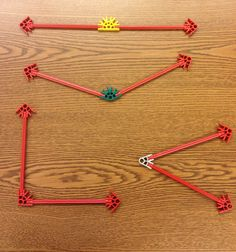K'Nex can be used to create acute, right, obtuse, and straight angles. This activity addresses the Common Core Math standard for 4th Grade Geometry: 4.G.1. Draw points, lines, line segments, rays, angles (right, acute, obtuse), and perpendicular and parallel lines.