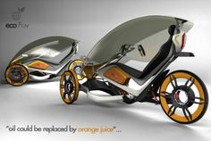ecofuv urban bicycle concept 2 How many calories per mile? ;-)