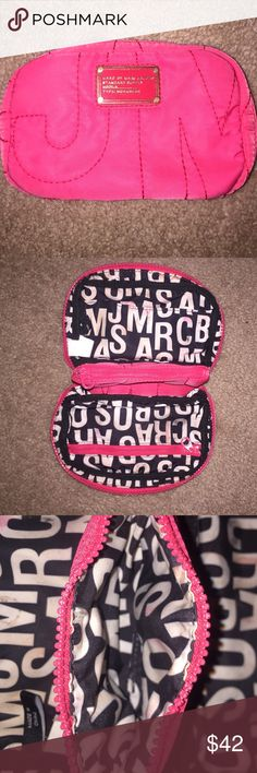 Marc Jacobs small makeup bag Hot pink small makeup bag great to have for on the go emergencies! Marc by Marc Jacobs Bags Cosmetic Bags & Cases