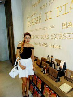 Gatta Vaidosa: Evento Nashi Argan Store em Milão