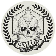 Adesivo #SailorSkateboard - Skull Circle