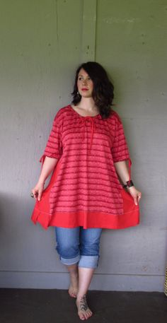 over sized Upcycled clothing/Bohemian by lillienoradrygoods, $75.50
