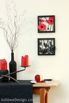 Ashbee Design Silhouette Projects: 3d Poppy Shadow Box Silhouette Tutorial