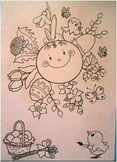Weather For Kids, Weather Art, Spring Activities, Activities For Kids, Coloring Pages For Kids, Coloring Books, Art For Kids, Crafts For Kids, Easter Illustration