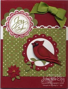 Christmas Cardinal by jguyeby - Cards and Paper Crafts at Splitcoaststampers