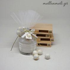 Μπομπονιέρα Αρωματικό Κερί σε γυάλινη mini φοντανιέρα Soap Tales
