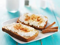 Cinnamon sugar toast with cottage cheese
