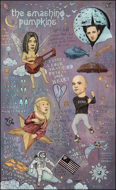 The Smashing Pumpkins - Spaceboy's Mellon Collie Dream (20 x 30) by TRAVISBRAUN on Etsy