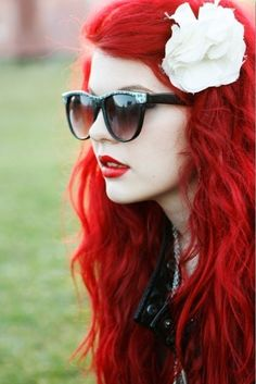 #red.  #dyedhair #ariel