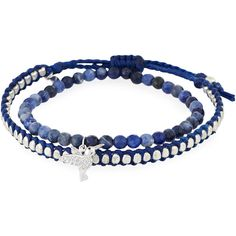 Tai Set of Two Bracelets ($27) ❤ liked on Polyvore featuring jewelry, bracelets, bracelet bangle, tai bracelet, charm jewelry, bead bracelet and beads & charms