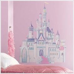 DISNEY PRINCESS CASTLE BiG Wall Mural Stickers Room Decor New Girl Vinyl Decal R *** You can find more details by visiting the image link. (This is an affiliate link) #WallStickersMurals