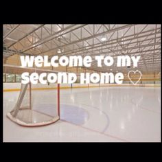 That's my second home. Don't like it, don't think i'ts good enough for a girl, I chose it and I am proud of it. Hockey Quotes, Sport Quotes, Hockey Mom, Ice Hockey, Hockey Stuff, Ice Skating, Figure Skating, Edmonton Oilers, World Of Sports