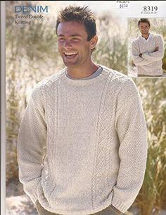 Denim Tweed DK Mens Pullover Sweaters Sirdar Knitting Pattern 8319 Sirdar http://www.amazon.com/dp/B00NB6PI84/ref=cm_sw_r_pi_dp_.Olqub18CB856