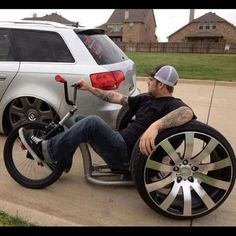 that's a man tricycle