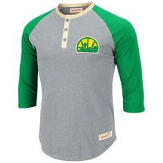 Seattle SuperSonics Mitchell & Ness NBA Henley Shirt #sonics #supersonics #nba