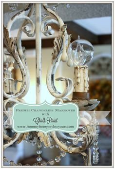 French Chandelier Makeover- From My Front Porch To Yours