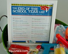20 FUN Things to do at the End of School Year! (FREE Printable)