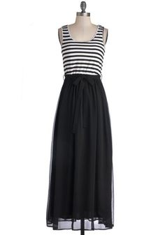 At the Helm Dress in Black, #ModCloth