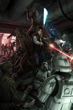 Han Solo and Chewie vs Zombie Stormtroopers