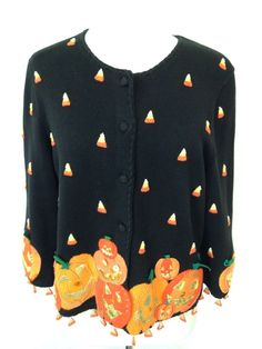 Michael Simon Event Halloween Cardigan Sweater #MichaelSimon #Cardigan