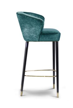 Buy NUKA BAR CHAIR by Carlyle Collective - Made-to-Order designer Furniture from Dering Hall's collection of Contemporary Mid-Century / Modern Transitional Stools