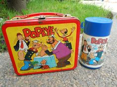 Vintage Popeye Metal Lunchbox