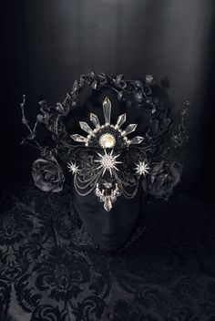 READY TO SHIPMoonchild crown  headpiece with starts  by MyWitchery