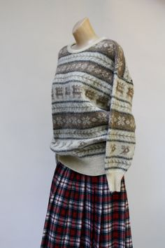 vintage 1970's Hilda Ltd Iceland wool winter llama pullover hipster indie sweater S/M/L on Etsy, $38.00