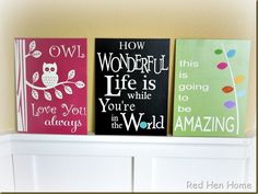 Cute painted signs
