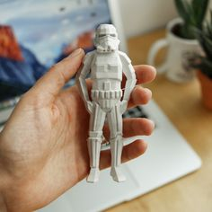 Download on https://cults3d.com #3Dprinting #Impression3D 3D Low-Poly Stormtrooper, flowalistik