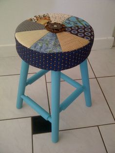 Simple pine stool transformed! Stool, Chair, Pine, Simple, Furniture, Home Decor, Pine Tree, Decoration Home, Room Decor