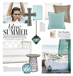 """""""Sea Nymphs"""" by barngirl ❤ liked on Polyvore featuring interior, interiors, interior design, home, home decor, interior decorating, Pottery Barn, Whiteley, Kate Spade and Somma"""