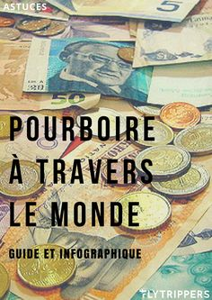 We never know how much to give when we are abroad! With this guide you will finally know the tipping customs for a lot of different countries! Voyager Malin, Budget Travel, Travel Tips, Bon Plan Voyage, Around The Worlds, Countries, Money Saving Tips, Packing, Portugal Trip
