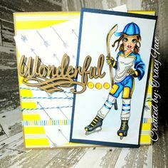 Handmade Card  Hockey  Cute as a Button Stamps