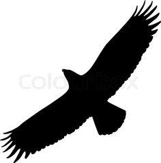Silhouette of Eagle | Stock-Vektor von 'Eagle, Silhouette, Adler'
