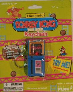 NEW-Rare-Arcade-Machine-Donkey-Kong-Nintendo-Keychain-toy-game-by-Basic-Fun-Inc Cool Keychains, Arcade Machine, Donkey Kong, Mini Games, Dear Santa, Game Room, Pusheen Stuff, Nintendo, Key Chains