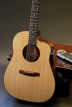 Lichty Guitars • Custom Spanish cedar OM cutaway guitar