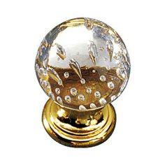 Classic Brass & Glass Knob -... - 992313018 at Richelieu Hardware